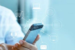 54952213-man-using-mobile-payment-holding-circle-global-and-icon-customer-network-connection-omni-channel-or-